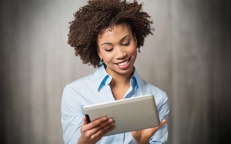 Einkäufer bestellen online